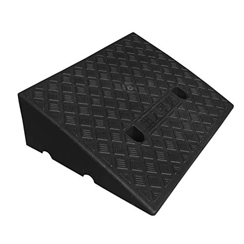 Rampa de plástico para bordillos Alfombrilla para rampa para sillas de ruedas con superficie antideslizante Rampa de bordillo de plástico ligero portátil, Rampa de umbral de plástico resistente