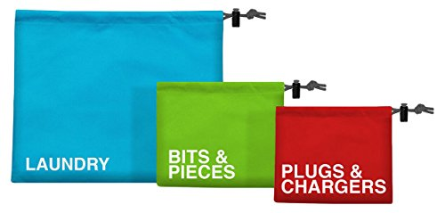 Safe and Sound Drawstring Travel Pouches