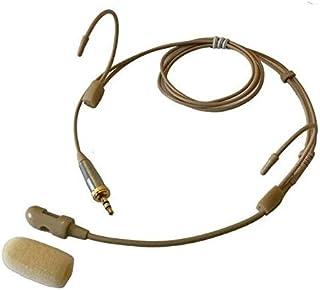 Bolymic Omnidireccional - Auriculares de diadema (1/8 pulgadas, mono TS de 100 canales, sistema UHF, 4 x 100 canales, pres...