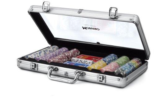 Modiano Valigetta in Alluminio Trasparente - 300 Chips da 14g