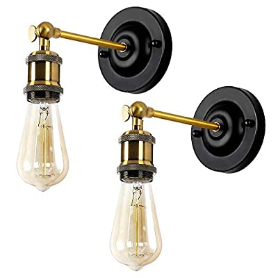 Wall Sconces Black Swing Arm Wall Lamp Industrial Vintage Wall Light Fixtures with Hardwired Usage for Bedroom Bathroom Porch