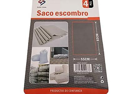 LCQI Saco Escombro Basura Pequeño Resistente Pack 4