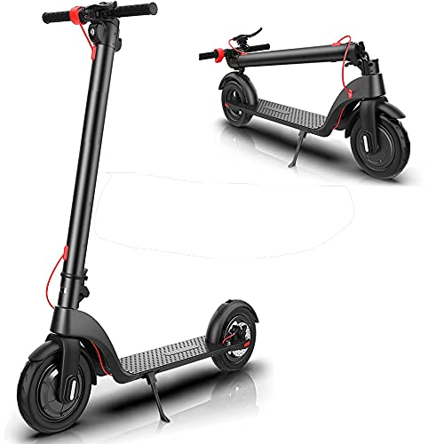 YYGG Electric Scooter for Adults, Upgraded Detachable Battery, Max Speed 19 MPH, 8.5-inch Dual Density Tires, Foldable and Portable Commuting Electric Scooter for Adults