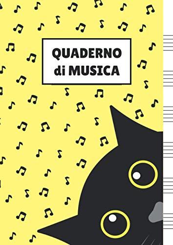 Quaderno di Musica: Pentagrammato per Bambini (con Gatto)