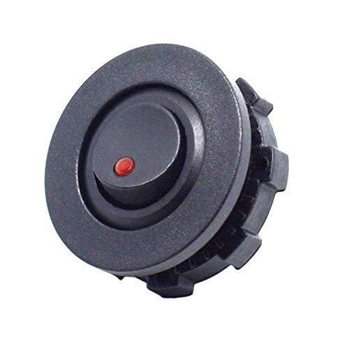 YANGFAN Camión de Coche DIY Rower Rocker CHURTURY SPST ON-Off Control con el Interruptor de la Carcasa Verde Rojo Azul l & edlight Botón de Interruptor de Piezas automáticas (Color : Red)