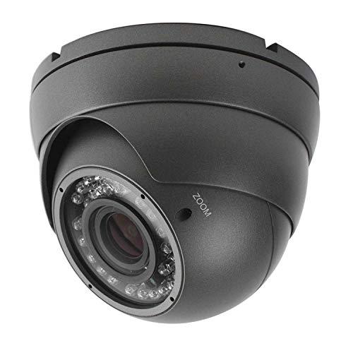 Analog CCTV Camera HD 1080P 4-in-1 (TVI/AHD/CVI/CVBS) Security Dome Camera, 2.8mm-12mm Manual Focus/Zoom Varifocal Lens, Weatherproof Metal Housing 36 IR-LEDs Day & Night Monitoring (Grey)