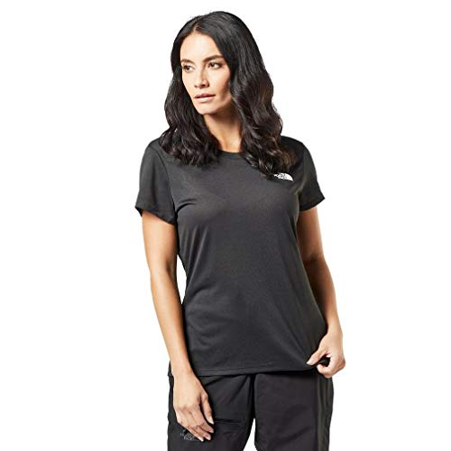 The North Face W Reaxion Amp CR - Camiseta para Mujer, Mujer, CE0T, Black HR/White, Medium