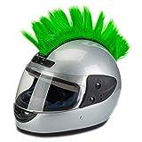 PAXLamb Helmet Hawks Motorcycle Helmet Mohawk Wigs Helmet Mohawk Wig for Motorcycle Bicycle Ski Snowboard Helmet Hair Patches Skinhead Costumes Wig Cosplay Wig (Green)