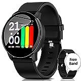 AIMIUVIE Smartwatch, Reloj Inteligente IP67 con Pulsómetro Podómetro Presión Arterial Oxígeno de Sangre, Sueño, Reloj Inteligente Deportivo para Mujer Hombre