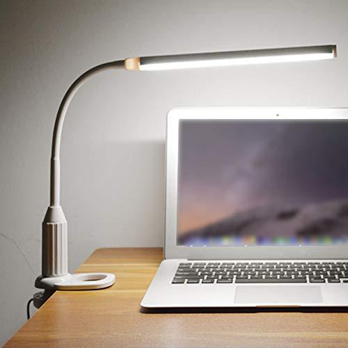 YCEOT Nachtlampje Usb Voeding Klem Lamp Tafellamp Touch Controle Flexibele Lampstandaard Lezen Werk Studie Tafellamp Nachtlampje
