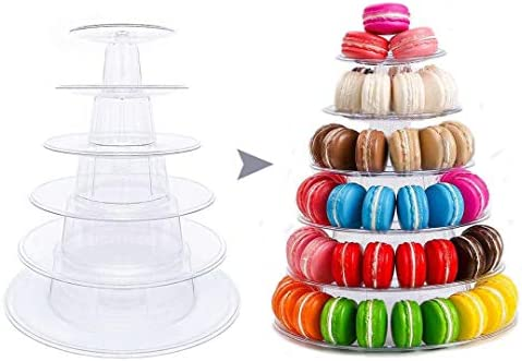 Macaron Tower Stand 6 Tier Round Macaroon Holder Stand Multifunction Cupcake Cookie Dessert product image