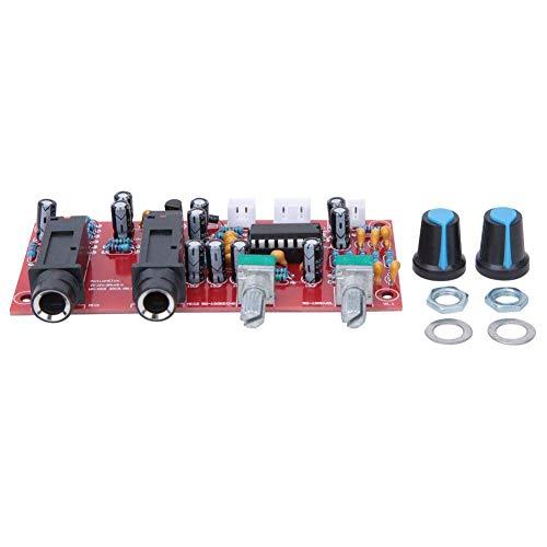 ZUQIEE Placa de circuito Amplificador de reverberación Junta DC12V-24V, amplificador de micrófono de karaoke, Componente eléctrico, PT2399 + NE5532, soportes bobinas móviles y micrófonos electret equi