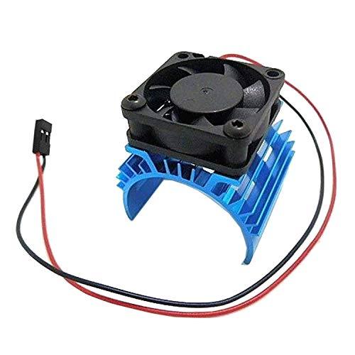 ShareGoo Alloy Heat Sink Heatsink with 5V Cooling Fan for 1/10 Car 540 550 3650 Size Brushless Engine Motor Remote Control Car Truck Buggy Crawler,Blue