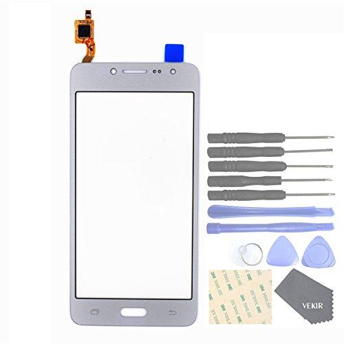 VEKIR Pièces de Rechange de téléphones Portables pour Samsung Galaxy J2 Prime Grand Prime Plus G532F G532M G532G Verre d'écran tactilePanel(Silver)