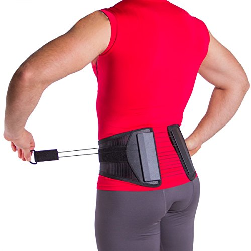 Spine Sport Back Brace - Best Lumbar Support for Active Use, Athletes, Exercising, Workouts, Golfing, Running, and Lower Back or Hip Pain Relief (L)