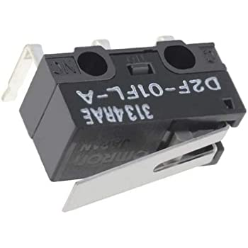2x D2F-01FL Microswitch with lever SPDT 0.1A//30VDC ON-ON 1-position OMRON