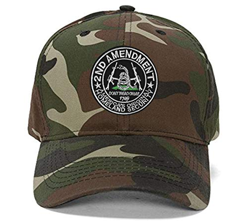 2nd Amendment Hat Pro-Gun Rights Don't Tread on Me Adjustable Cap - Camo