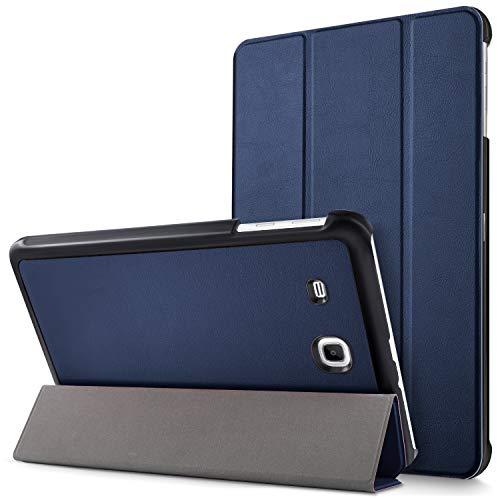 """Mama Mouth Samsung Galaxy Tab E 9.6 Ultra Custodia, Ultra Sottile di Peso Leggero con Supporto in Piedi Caso Case per 9.6"""" Samsung Galaxy Tab E 9.6 T560 T561 Android Tablet,Blu Scuro"""