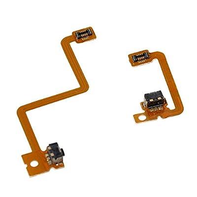 Timorn L R Shoulder Button with Flex Cable Repair Parts for 3DS Left Right Shoulder Button (2 Sets)