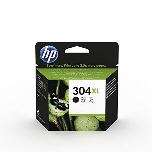 HP 304XL N9K08AE - Cartucho de Tinta Original de alto rendimiento, negro, compatible con impresoras de inyección de tinta HP DeskJet 2620, 2630, 3720, 3730, 3750, 3760, HP Envy 5010, 5020, 5030