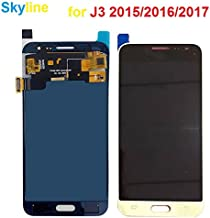 Skyline TFT LCD Replacement for Samsung Galaxy J3 2016 J320P J320M J320Y J320 J320DD J320R4 J320DS J320YZ J320FN LCD Touch Screen Digitizer Assembly Brightness Adjustable (Gold, 2016)