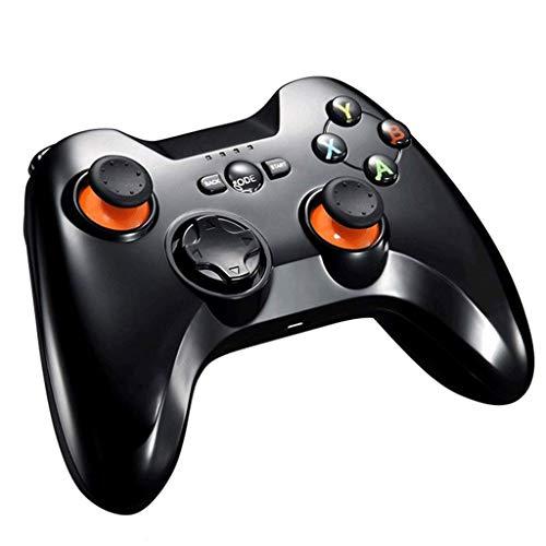 QCHEA Controladores de Gamepad, PC inalámbrica PS3 USB PC Bluetooth TV 2.4G Transmisión inalámbrica (Color : Black)