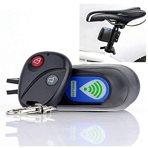 Fahrrad Alarmanlage - Drahtlose Motorrad Fahrrad Alarm, Diebstahlsicherung Alarm Mit Fernbedienung, IP55 Wasserdicht, 113 dB Super Laut (Black)