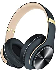 DOQAUS Bluetooth Headphones, [52 Hrs Playtime] Wireless Headphones with 3 EQ Modes, Hi-Fi Stereo Over Ear Headphones with Microphone and Comfortable Earpads for Cellphone/TV/PC/Laptop (Black)