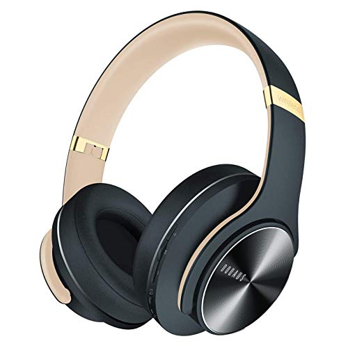 DOQAUS Bluetooth Headphones, 52 Hrs Playtime Wireless Headphones Over Ear with 3 EQ Modes, Hifi Stereo Headsets with Built-in Microphone and Soft Protein Ear Pads for Travel, Home Office (Shadow Gray)