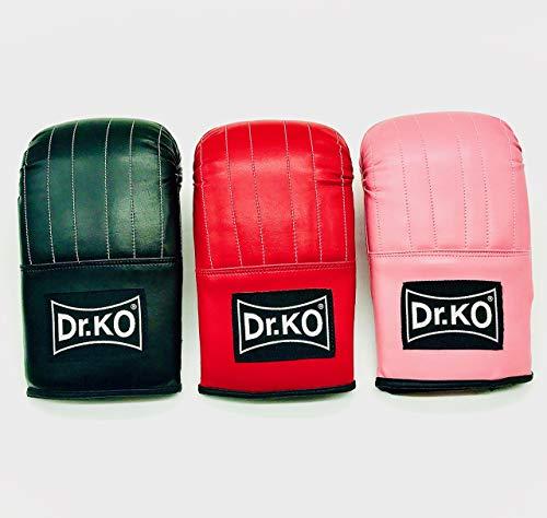 Dr. KO Guantillas para Saco de Boxeo máxima protección; Guantes para Saco de Boxeo (Rosa, M)