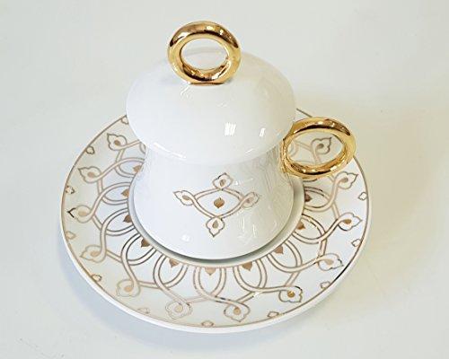 Korkmaz A8637 Freedom Bone Porcelan Türk Kahve takimi Mokka set Cofee cup 12 tlg