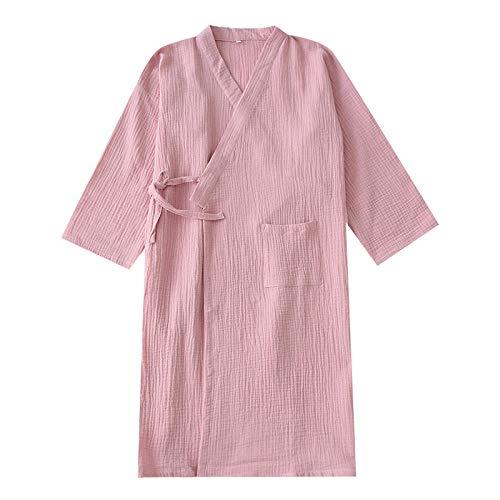 Nieuwe Zomer Dunne Kamerjas Lange Katoen Losse Grote Maat Nachtjapon Effen Kimono Gewaad Dames Kamerjas Bruiloft Nachtkleding