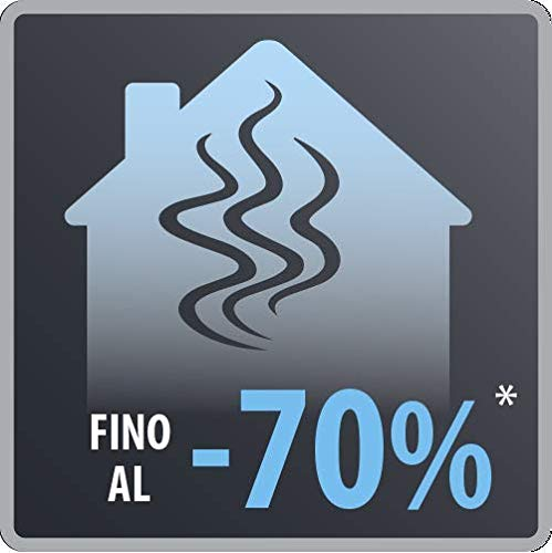 Rowenta KG900812, Smokeless Grill, Griglia, 70% di fumo in meno, Meno odori, 2 zone di cottura indipendenti, 2000 W, Nero