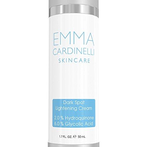 Skin Lightening Cream for Dark Spots - Hydroquinone Cream to Fight Skin Aging, Fade Sun Damage,...