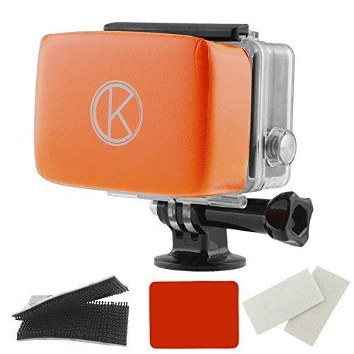 CamKix kompatibler Floaty für GoPro Hero - Abnehmbarer Schwimmer für GoPro Backdoor - Mit wasserdichtem Klebstoff, Qualitäts Klettverschluss, 1 Paar Anti-Fog Einsätze - Für mit GoPro Hero 4/3+/3/2/1