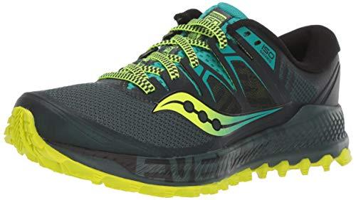 Saucony Peregrine ISO, Zapatillas de Trail Running Hombre, Verde (Verde 37), 41 EU