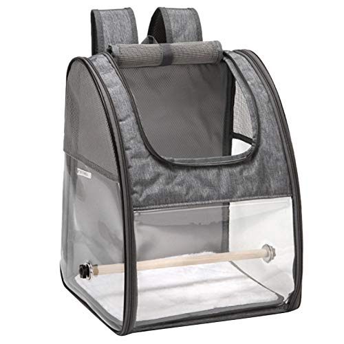 SODIAL Bird Bag Parrot Outing Backpack Bird Cage Bag Bird Travel Cage with Stand Rod Foldable Pet Outing Bag Pet Supplies