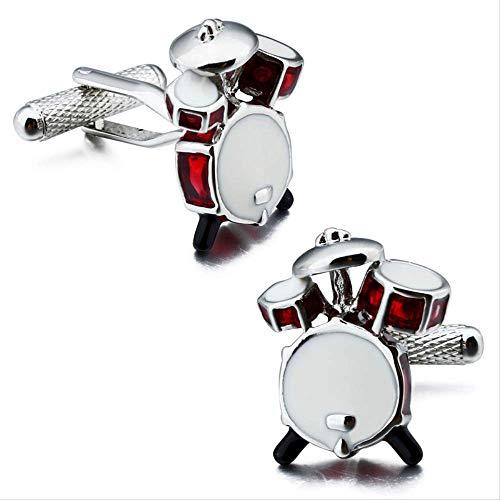 XKSWZD Manschettenknöpfe Mode Manschettenknöpfe Drum Designer personalisierte Emaille Musik Manschettenknöpfe für Männer