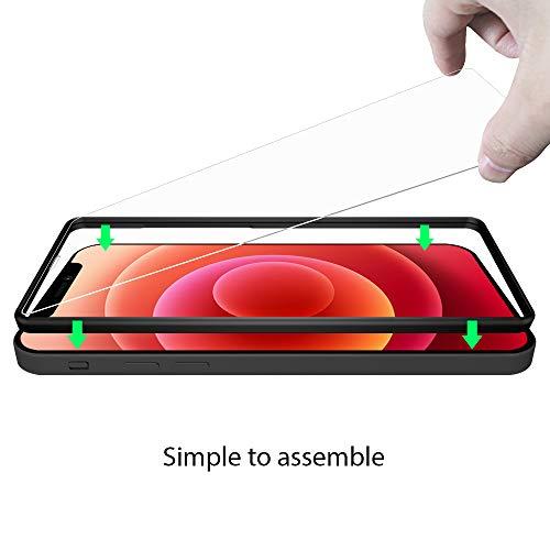 ANEWSIR 3 Stück panzerglas kompatibel mit iPhone 12 und iPhone 12 pro [6.1Zoll ] 9H-Härte/Keine Blasen/Einfach zu montieren/mit Montagehalterung, Displayschutzfolie Kompatibel mit iPhone 12 pro
