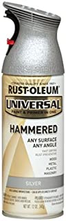 Rust-Oleum 245219 Universal All Surface Spray Paint, 12 oz, Hammered Silver