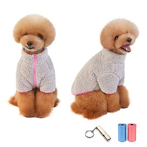 TVMALL Abrigos Chaquetas para Perros Protección contra el frío Chaleco Polar para Perros Suéter A Prueba de Viento cálida Sudadera Perro Clima frío Ropa para Perros Pequeños y Medianos (Gris,XL)