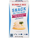 BUMBLE BEE Snack On The Run! Rosemary, Garlic & Sea Salt Tuna Salad with Crackers Kit, 3.35 Ounce Kit (Case of 12), High Protein Snack Food, Canned Tuna, Healthy Snacks for Adults