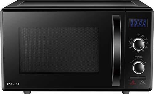 Toshiba MW-AG23P (BK) Horno microondas con grill 900 W con Crispy 1050 W y cocción combinada, 23 litros, negro
