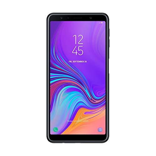 Samsung Galaxy A7 - Smartphone de 6' (Octa Core 2.2 GHz, RAM de 4 GB, Memoria de 64 GB, cámara de 24+5+8 MP, Android) Negro