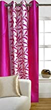 Home Ready 1 Piece Eyelet Polyester Long Door Curtain Set-Size-5 feet Long, Pink