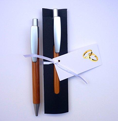 Detalles y Recuerdos de Boda Para Invitados   Bolígrafos de Madera de Bambú con Funda   Pack 20 Unidades   Y lo más Alucinante: ¡¡Escriben Super Bien!!