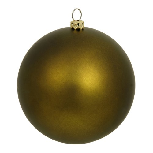 Vickerman 60 Count Matte Olive Green Shatterproof Christmas Ball Ornaments, 2.5'