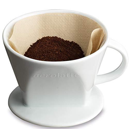 aerolatte Handkaffeefilter aus Keramik für 102 Filter (No. 4), Weiß