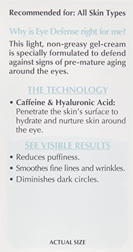 41RalBvHnRL - L'Oreal Paris Skincare Dermo-Expertise Eye Defense Eye Cream with Caffeine and Hyaluronic Acid For All Skin Types 0.5 oz.