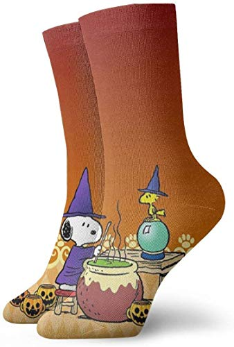 v-kook-v Herren Crew Socken Snoopy's Halloween Painting Compression Socks Fancy Cushion Söckchen